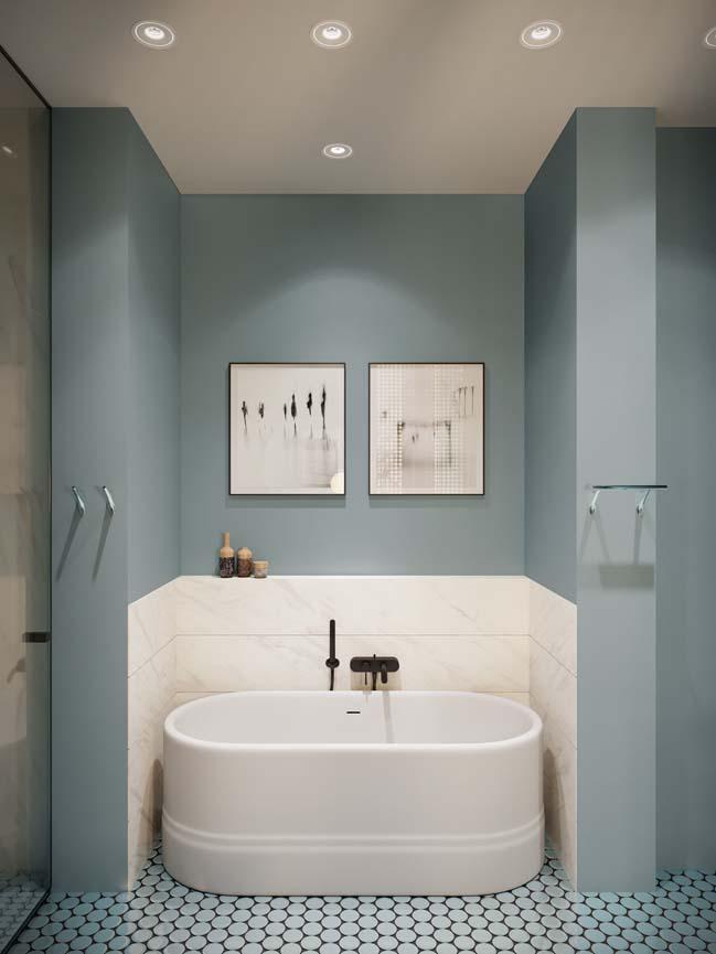 Thiết kế nội thất căn hộ màu sắc trang nhã theo phong cách tân cổ điển-22