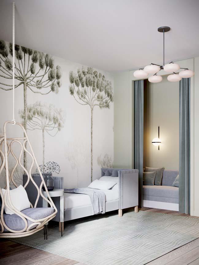 Thiết kế nội thất căn hộ màu sắc trang nhã theo phong cách tân cổ điển-26
