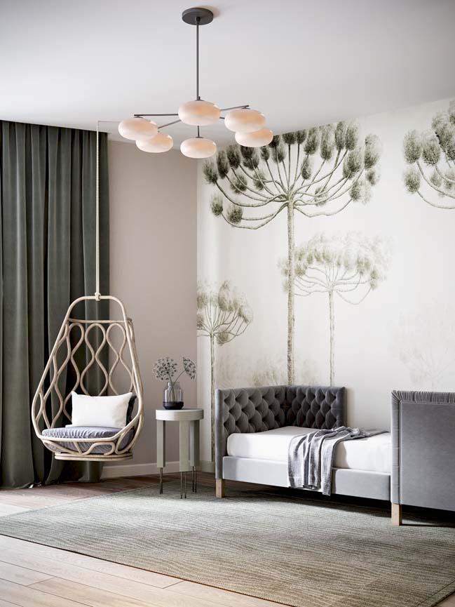 Thiết kế nội thất căn hộ màu sắc trang nhã theo phong cách tân cổ điển-27