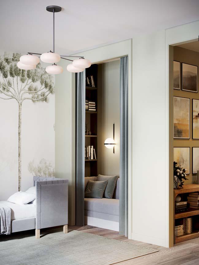 Thiết kế nội thất căn hộ màu sắc trang nhã theo phong cách tân cổ điển-28