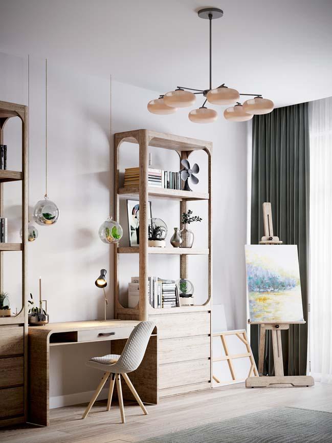 Thiết kế nội thất căn hộ màu sắc trang nhã theo phong cách tân cổ điển-29