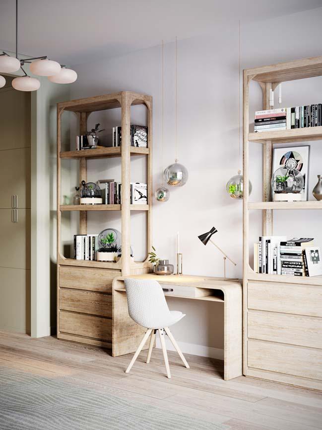 Thiết kế nội thất căn hộ màu sắc trang nhã theo phong cách tân cổ điển-30