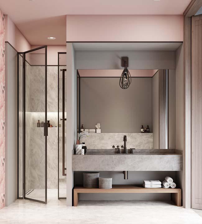Thiết kế nội thất căn hộ màu sắc trang nhã theo phong cách tân cổ điển-32