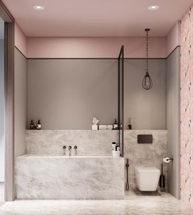 Thiết kế nội thất căn hộ màu sắc trang nhã theo phong cách tân cổ điển-33