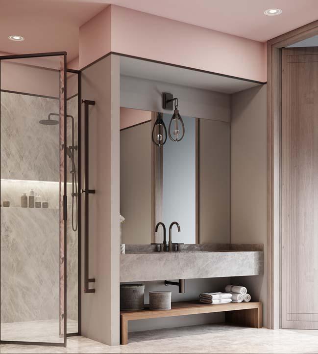 Thiết kế nội thất căn hộ màu sắc trang nhã theo phong cách tân cổ điển-34