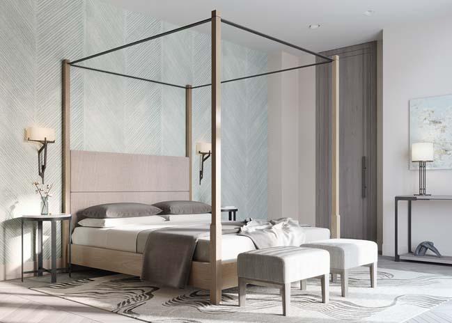 Thiết kế nội thất căn hộ màu sắc trang nhã theo phong cách tân cổ điển-35