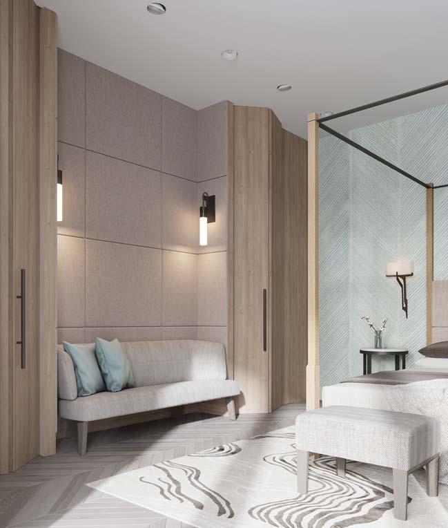 Thiết kế nội thất căn hộ màu sắc trang nhã theo phong cách tân cổ điển-36