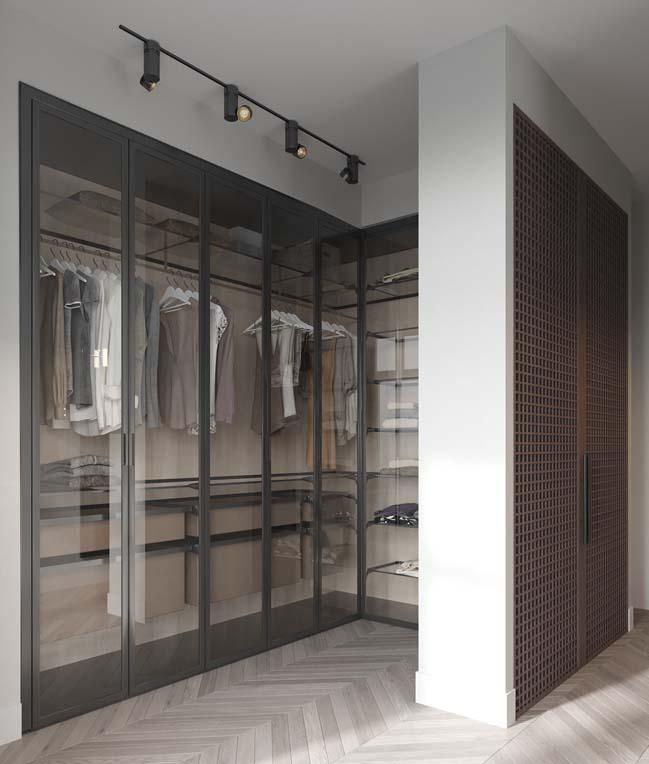 Thiết kế nội thất căn hộ màu sắc trang nhã theo phong cách tân cổ điển-37