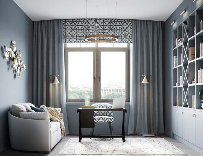 Thiết kế nội thất căn hộ màu sắc trang nhã theo phong cách tân cổ điển-38