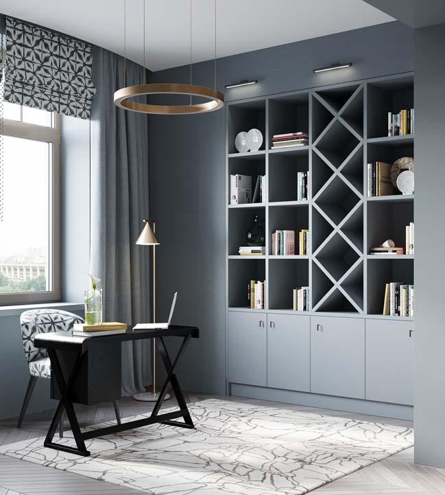 Thiết kế nội thất căn hộ màu sắc trang nhã theo phong cách tân cổ điển-39
