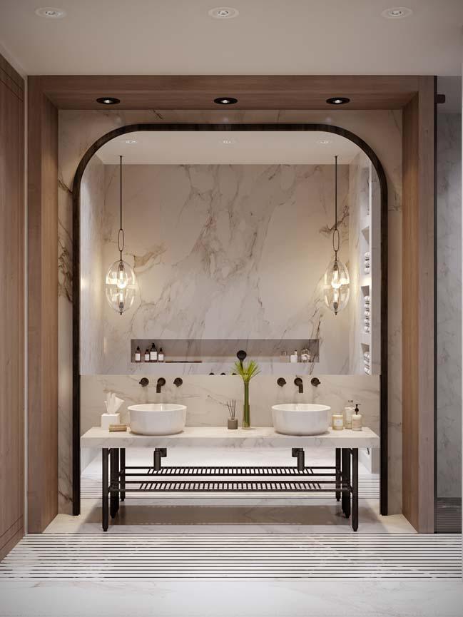 Thiết kế nội thất căn hộ màu sắc trang nhã theo phong cách tân cổ điển-8