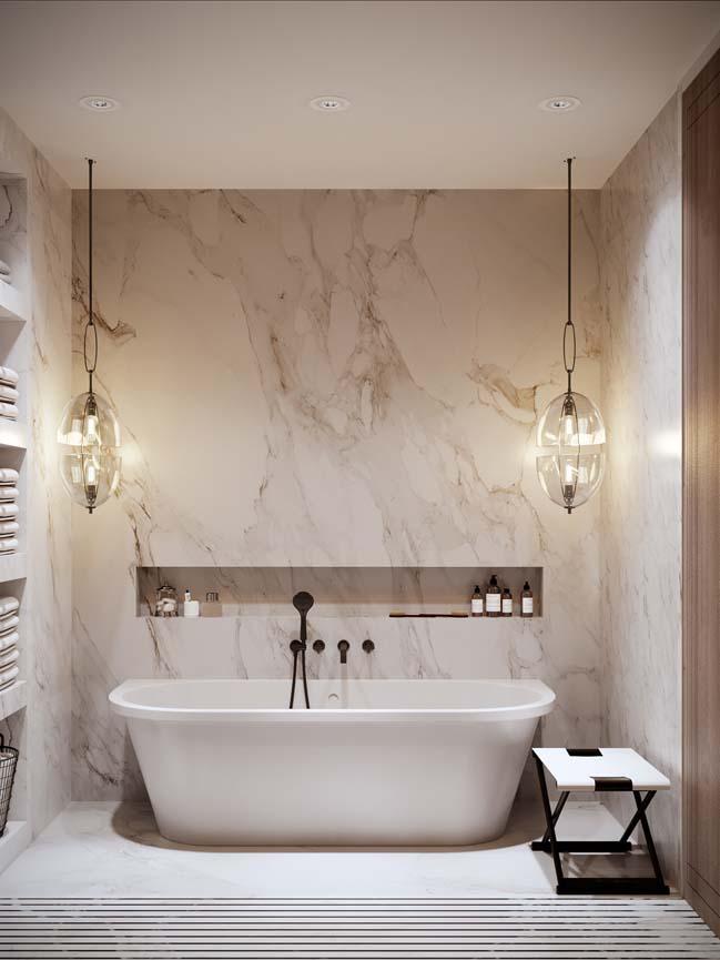 Thiết kế nội thất căn hộ màu sắc trang nhã theo phong cách tân cổ điển-9