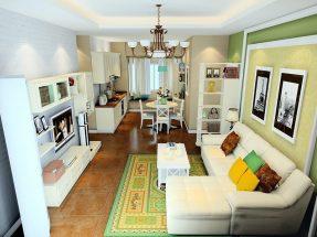 Thiết kế phòng bếp liền phòng khách tận dụng tối đa diện tích thumbnail