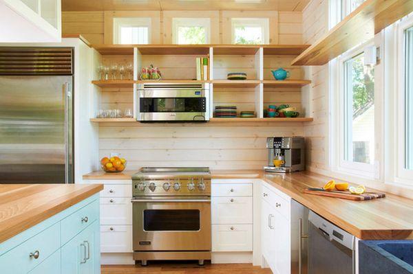 Cách tân trang nhà bếp 4:Sử dụng tấm chắn tường bếp
