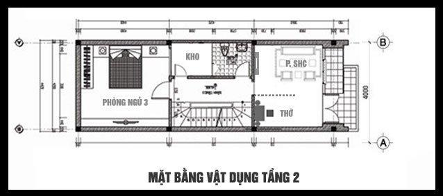 Bản vẽ thiết kế và nội thất nhà ống 3 tầng đẹp hiện đại diện tích nhỏ-4