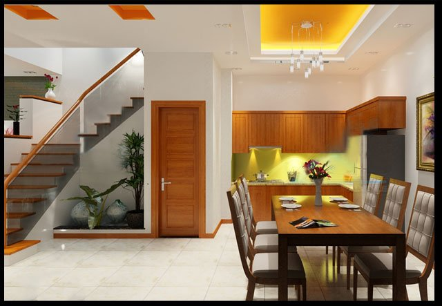 Bản vẽ thiết kế và nội thất nhà ống 3 tầng đẹp hiện đại diện tích nhỏ-6