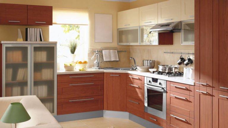 Mẫu tủ bếp nhôm kính đơn giản cho phòng bếp đẹp đang lên ngôi 2018