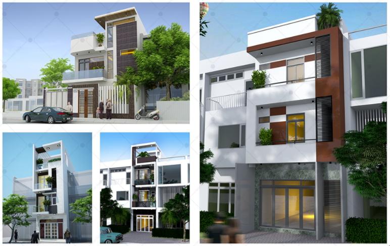 Thiết kế nhà phố đẹp 3 tầng đúng chuẩn nhà đẹp sang