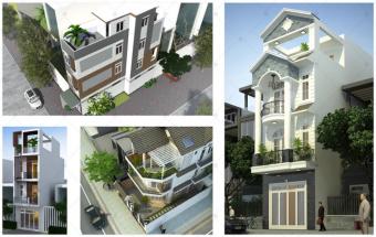 Thiết kế nhà phố đẹp 3 tầng đúng chuẩn nhà đẹp sang thumbnail