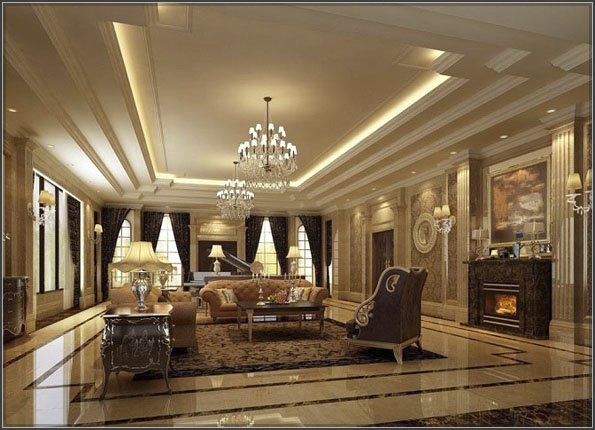 Thiết kế nội thất biệt thự cổ điển kiểu Pháp 3 tầng đẹp mãn nhãn-1