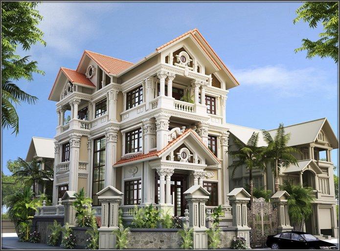 Thiết kế nội thất biệt thự cổ điển kiểu Pháp 3 tầng đẹp mãn nhãn
