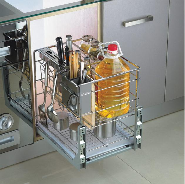 Khai gia vị được âm bên trong tủ bếp