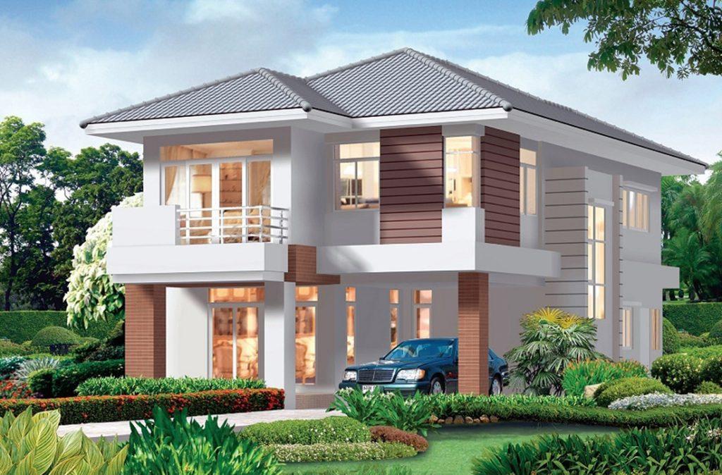 Top 10 mẫu thiết kế biệt thự nhà vườn 2 tầng hiện đại đẹp hút mắt-00