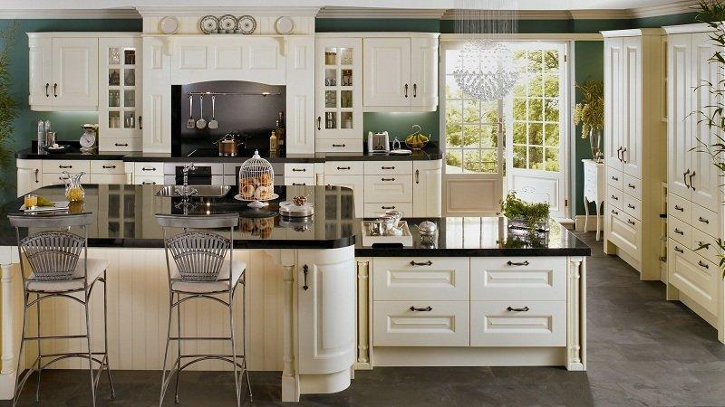 Top 10 mẫu tủ bếp tân cổ điển sang trọng đang lên ngôi năm 2018
