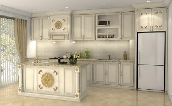 thiết kế không gian bếp tân cổ điển thông minh năm 2018