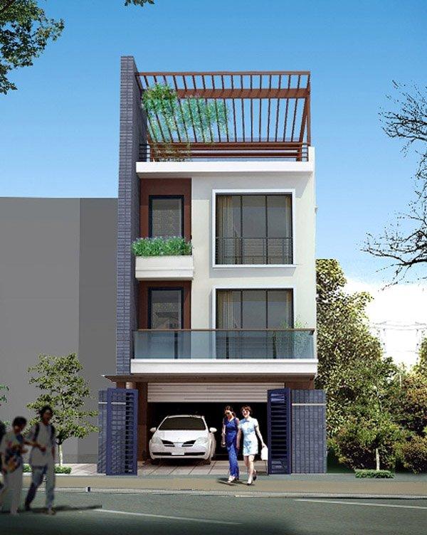 mẫu thiết kế nhà phố đẹp năm 2013, 2014, 2015