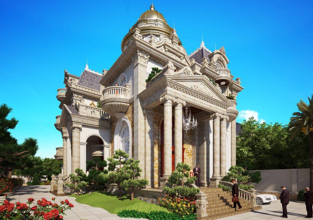 Xu hướng thiết kế biệt thự cổ điển kiểu Pháp đang lên ngôi năm 2018