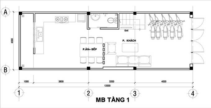 Xu hướng thiết kế nội thất nhà ống 4 tầng 48m2 đẹp mê ly dưới 1 tỷ-1