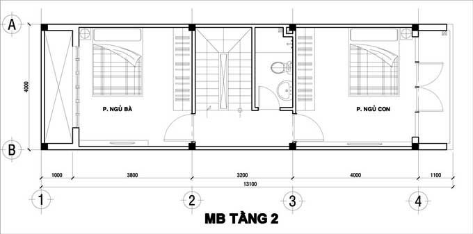 Xu hướng thiết kế nội thất nhà ống 4 tầng 48m2 đẹp mê ly dưới 1 tỷ-2