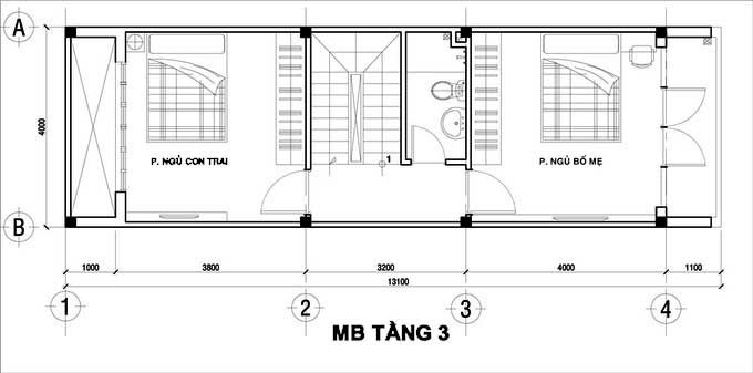 Xu hướng thiết kế nội thất nhà ống 4 tầng 48m2 đẹp mê ly dưới 1 tỷ-3