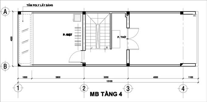 Xu hướng thiết kế nội thất nhà ống 4 tầng 48m2 đẹp mê ly dưới 1 tỷ-4