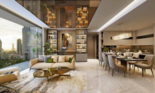 Ý tưởng thiết kế không gian nội thất phòng khách cao cấp đạt giải 3 post image