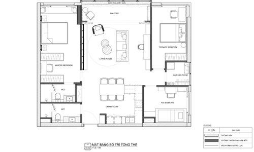 Ý tưởng thiết kế không gian nội thất phòng khách cao cấp đạt giải 3