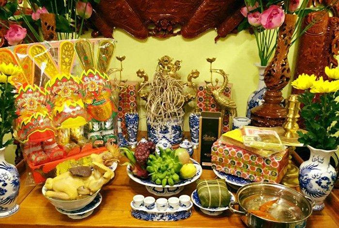 Bàn lễ đưa ông Táo về trời của người Việt Nam