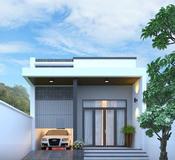 Mãn nhãn mẫu thiết kế nhà cấp 4 có gác lửng 4x16 m2 HOT năm 2018