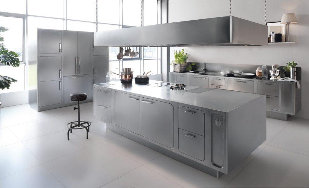 Xu hướng thiết kế bếp đẹp bằng vật liệu thép không gỉ lên ngôi 2018