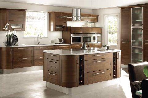 Tủ bếp gỗ óc chó – Hoàn thiện công trình tủ bếp nhà anh Phú – La Phù, Hoài Đức, Hà Nội thumbnail
