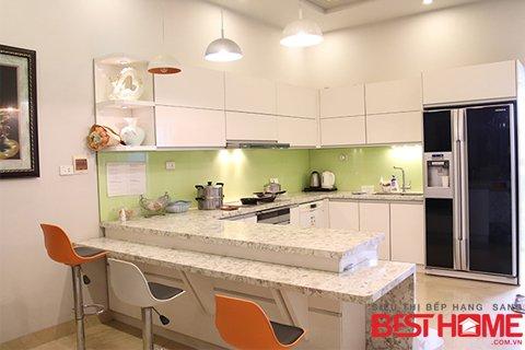 Tủ bếp gỗ Acrylic-Tri ân khách hàng và bảo trì công trình tủ bếp nhà anh Tuấn-Phú Thọ thumbnail