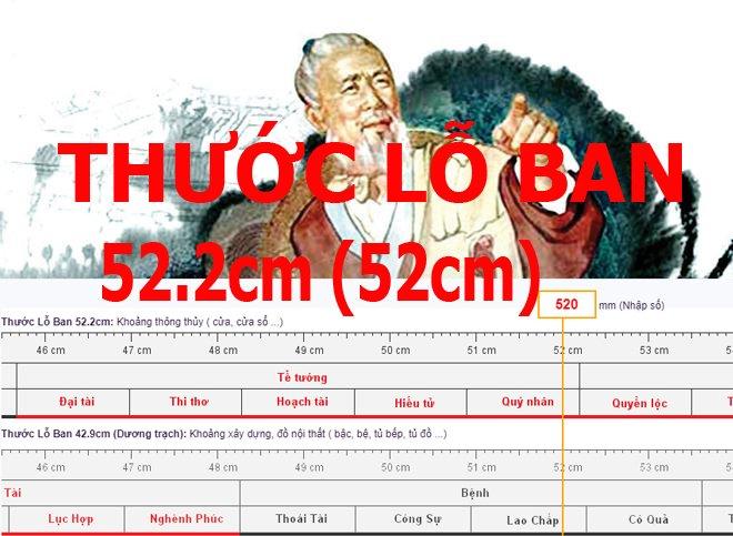 Thước lỗ ban 52cm là gì ? Ứng dụng và ý nghĩa thước lỗ ban 52cm