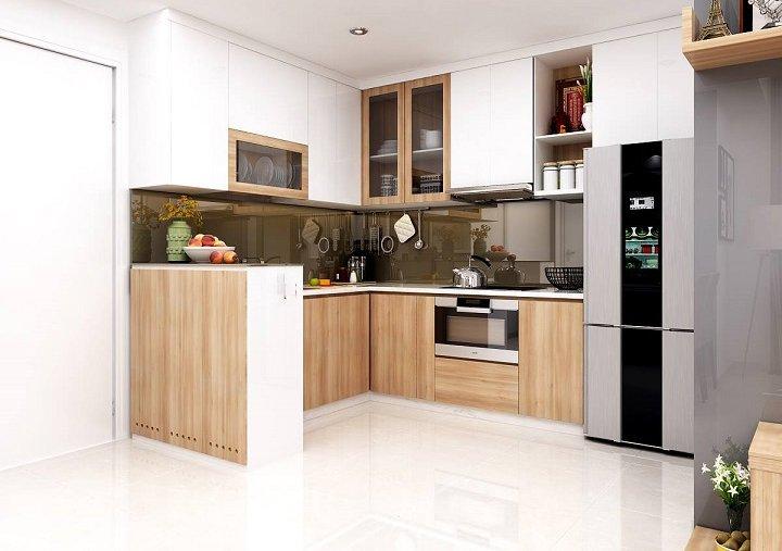 Mẫu tủ bếp có bàn thờ ông táo và hướng đặt bàn thờ ông táo theo tuổi