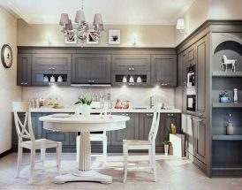 Bạn có thích mẫu tủ bếp phong cách tân cổ điển hay không?