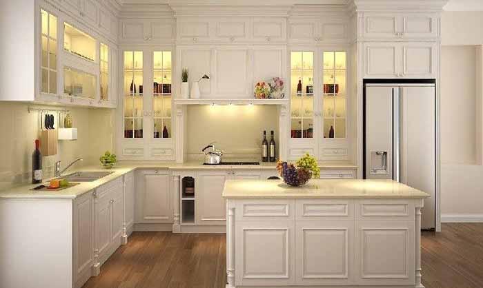 mẫu tủ bếp phong cách tân cổ điển
