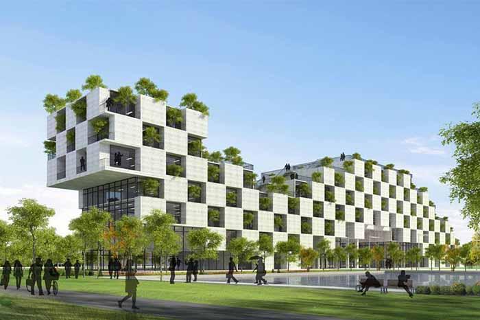 Kiến trúc cảnh quan xanh đẹp hiện đại nhà phố, nhà ống, nhà biệt thự