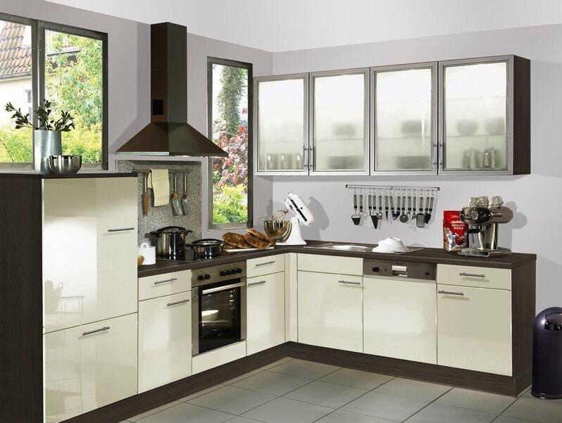 Tủ bếp chữ L dành cho nhà nhỏ đầy đủ công năng