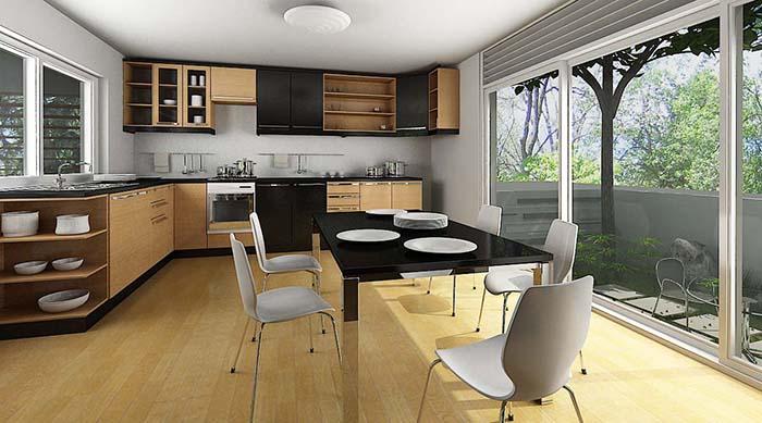 Thiết kế bếp trên sân thượng