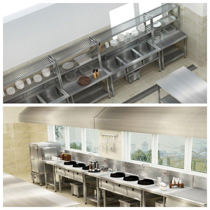 Thiết kế bếp một chiều cho trường học đạt chuẩn và khoa học